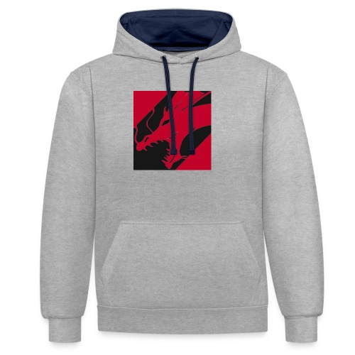 Dragon Red - Contrast hoodie