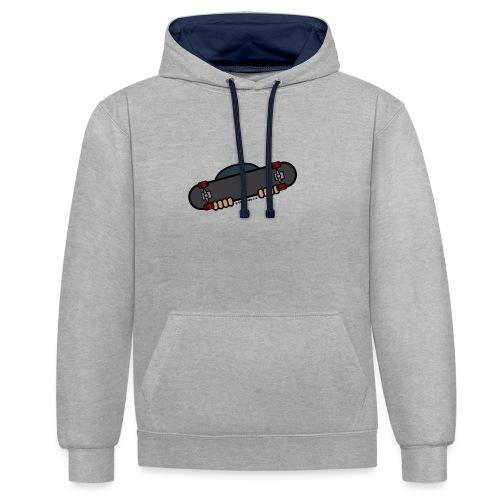 Skater plain - Contrast Colour Hoodie