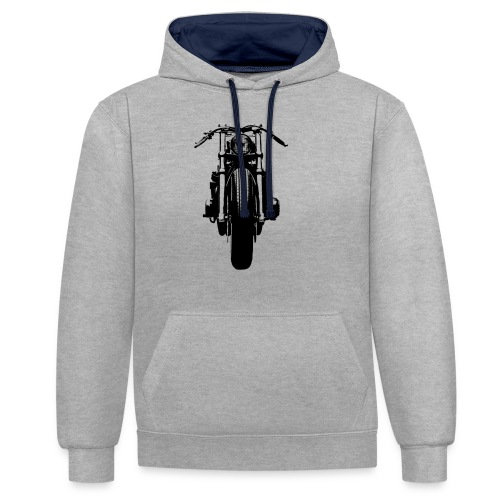 Motorcycle Front - Contrast Colour Hoodie