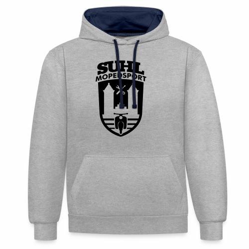 Suhl Mopedsport Schwalbe 2 Logo - Contrast Colour Hoodie
