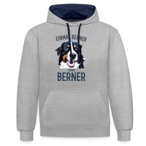 Berner Sennenhund Bern Geschenk Hundehalter - Kontrast-Hoodie
