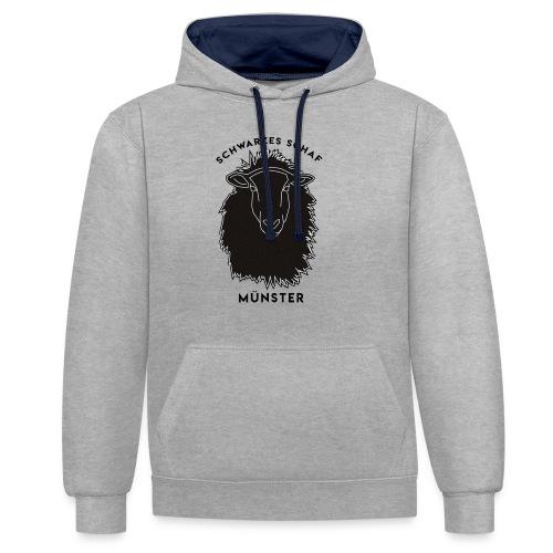 Schwarzes Schaf Logo & Schrift - Kontrast-Hoodie