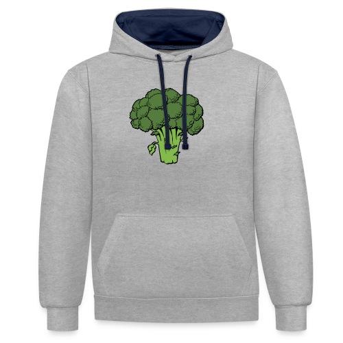 broccoli 40295 1280 - Kontrast-Hoodie