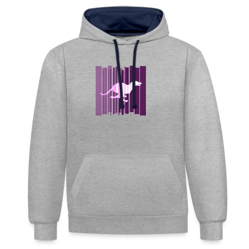 Sighthound In Purple Women's T - Contrast Colour Hoodie