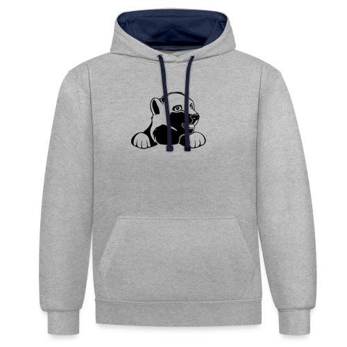 ijsbeer shirt - Contrast hoodie