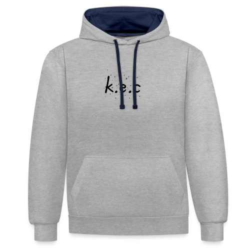 K.E.C original t-shirt kids - Kontrast-hættetrøje