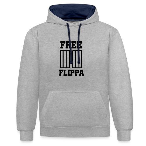 Free Flippa Zwart - Contrast hoodie