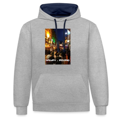 GALWAY IRELAND SHOP STREET - Contrast Colour Hoodie