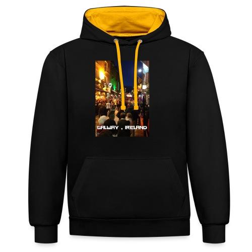 GALWAY IRELAND SHOP STREET - Contrast Colour Hoodie