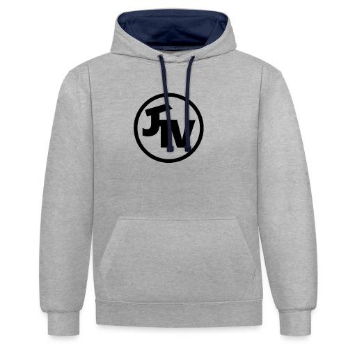 JonnyTeeVee Logo (Black) - Contrast Colour Hoodie
