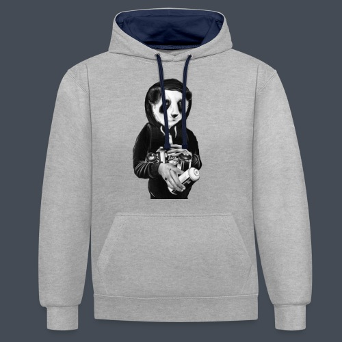 pandit graffiti bear - Contrast hoodie