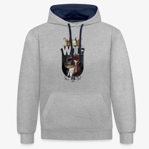 wolf - Sudadera con capucha en contraste