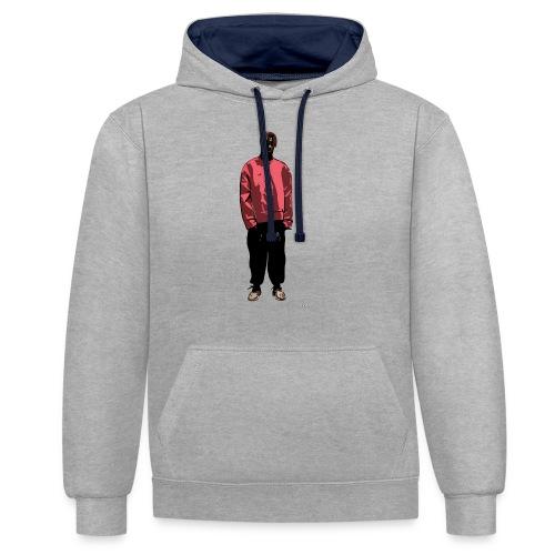 Streetwear Comic Character - Contrast hoodie
