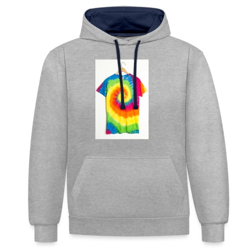 tie die small merch - Contrast Colour Hoodie