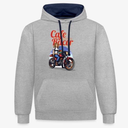 Cafe Racer - Kontrast-Hoodie