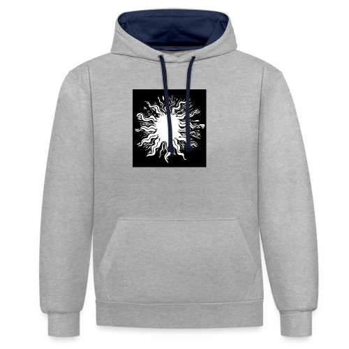 sun1 png - Contrast Colour Hoodie