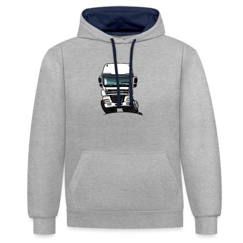 0810 D truck CF wit - Contrast hoodie