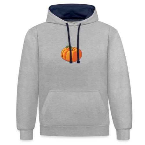 Pumpkin - Felpa con cappuccio bicromatica