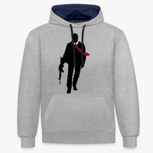 PREMIUM SO GEEEK HERO - MINIMALIST DESIGN - Sweat-shirt contraste