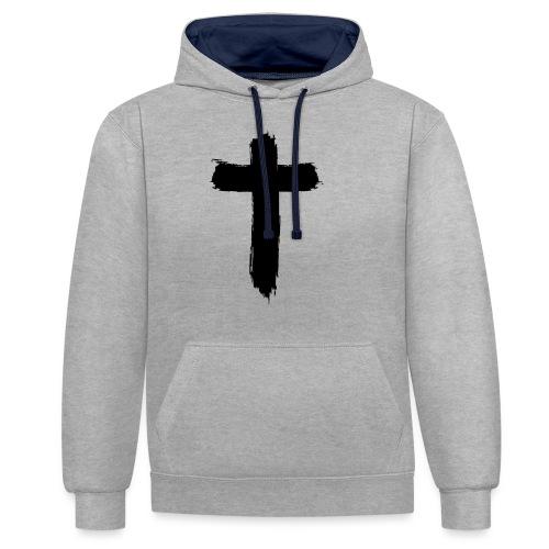Brushed-Cross - Kontrast-Hoodie
