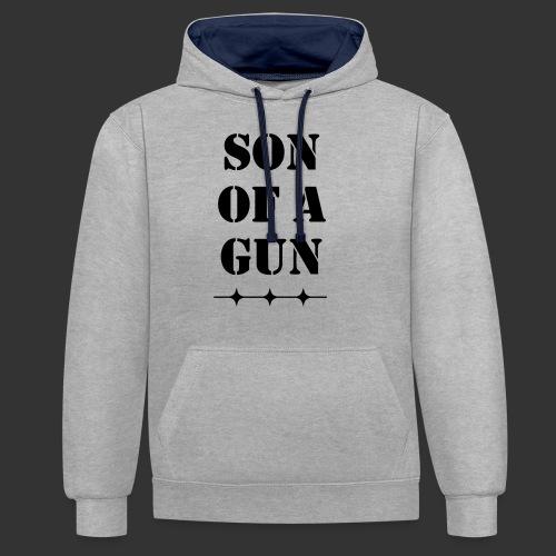 Son of a gun - Kontrast-Hoodie