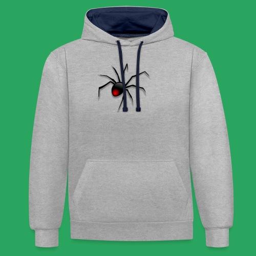 spider logo fantasy - Felpa con cappuccio bicromatica