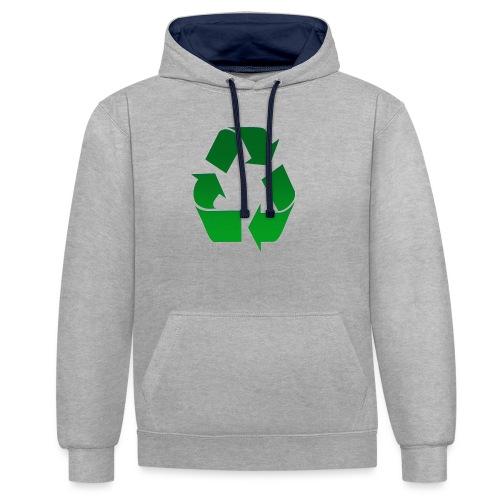 Recyclage - Sweat-shirt contraste