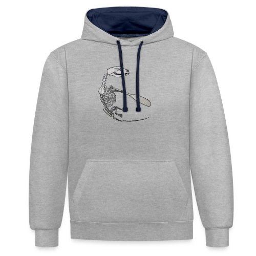 Skeleton Quentin - Contrast Colour Hoodie