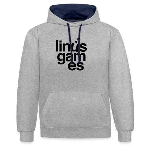 T-shirt donna Linus Games - Felpa con cappuccio bicromatica