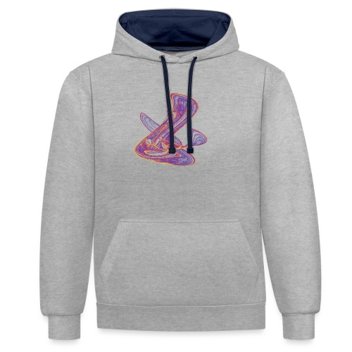 Why is the weather so inaccurate: capricious designs - Contrast Colour Hoodie