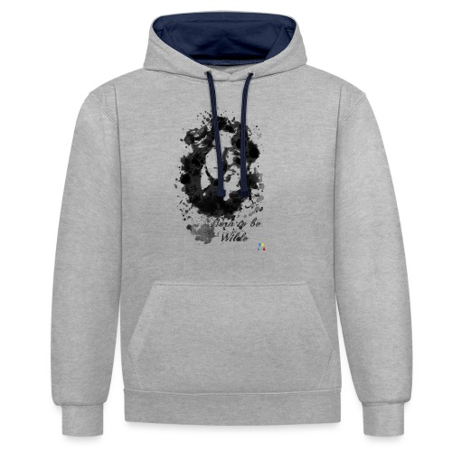 Born to be Wilde - Sweat-shirt contraste