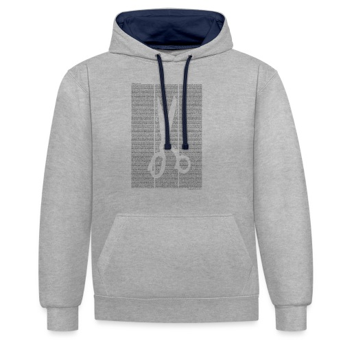 «Kleider machen Leute» T‑Shirt (Jungs) - Kontrast-Hoodie