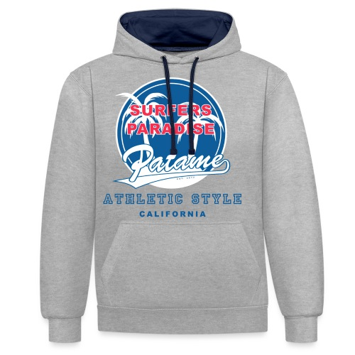 Surfers Paradise Athletic Blue - Kontrast-Hoodie