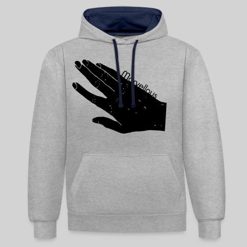 Marvellous Hand - Kontrast-Hoodie