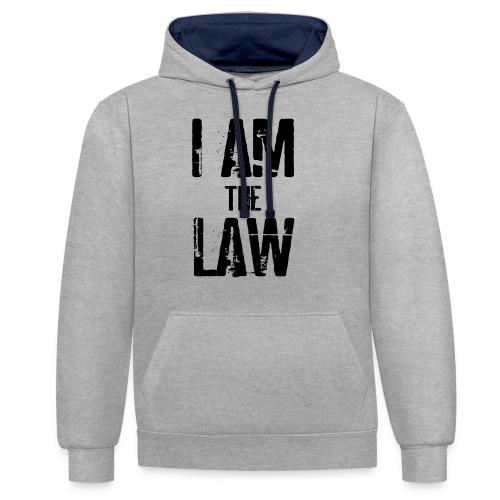 Mug I AM THE LAW. Tazza avvocato o giudice - Contrast Colour Hoodie