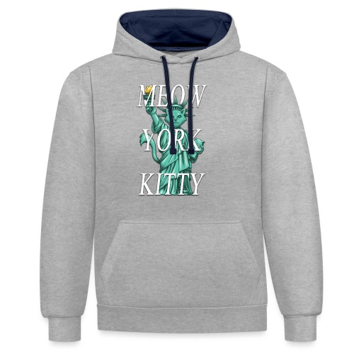 Meow York Kitty - Contrast Colour Hoodie