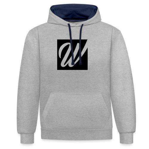 W only W!!!! - Kontrast-Hoodie