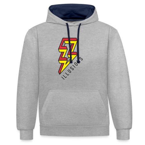 ♂ Lightning - Kontrast-Hoodie