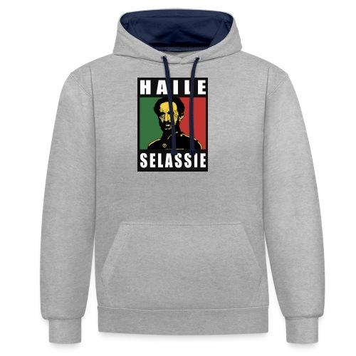 Haile Selassie - Rastafari - Reggae - Rasta - Kontrast-Hoodie