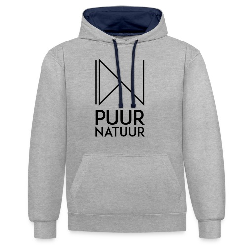 PUUR NATUUR FASHION BRAND - Contrast hoodie