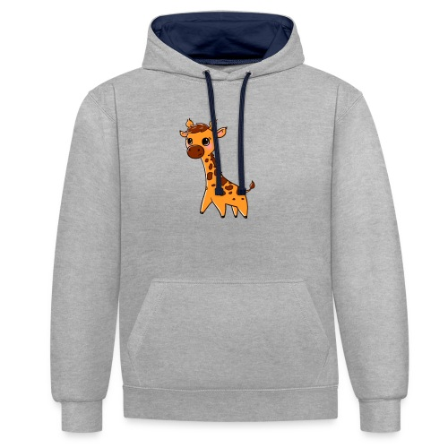 Mini Giraffe - Contrast Colour Hoodie