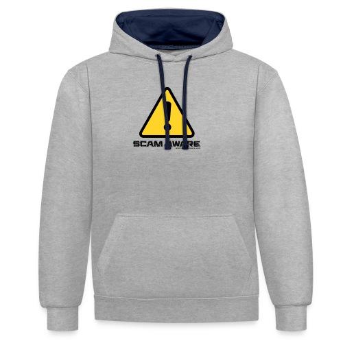 scam-aware.com's line of clothing - Contrast Colour Hoodie