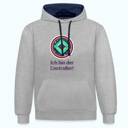 I am the controller - Contrast Colour Hoodie