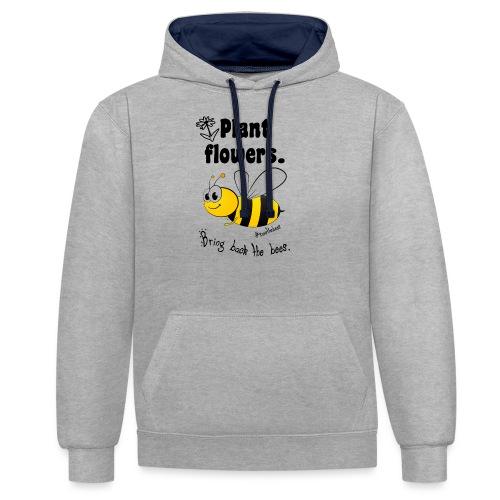 Bees8-2 Bringt die Bienen zurück! | Bookrebels - Contrast Colour Hoodie