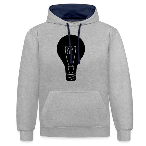 Glühbirne - Kontrast-Hoodie