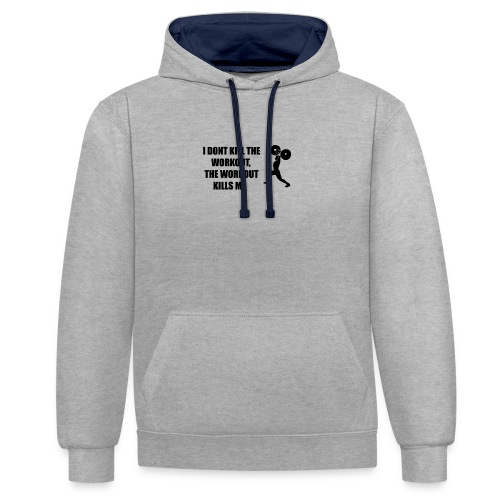 oioi - Contrast Colour Hoodie