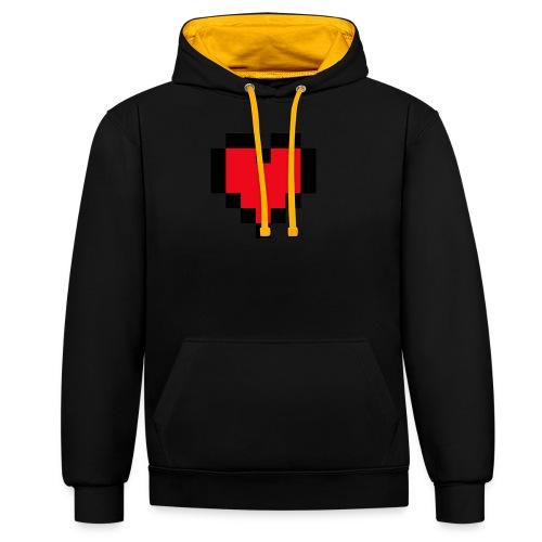 Pixel Heart - Contrast hoodie