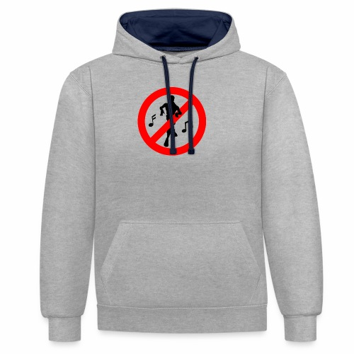 No Dancing Allowed - Contrast Colour Hoodie