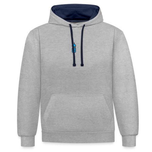 Bottlenet Tshirt Grijs - Contrast hoodie