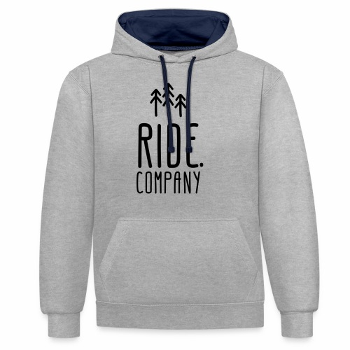 RIDE.company Logo - Kontrast-Hoodie